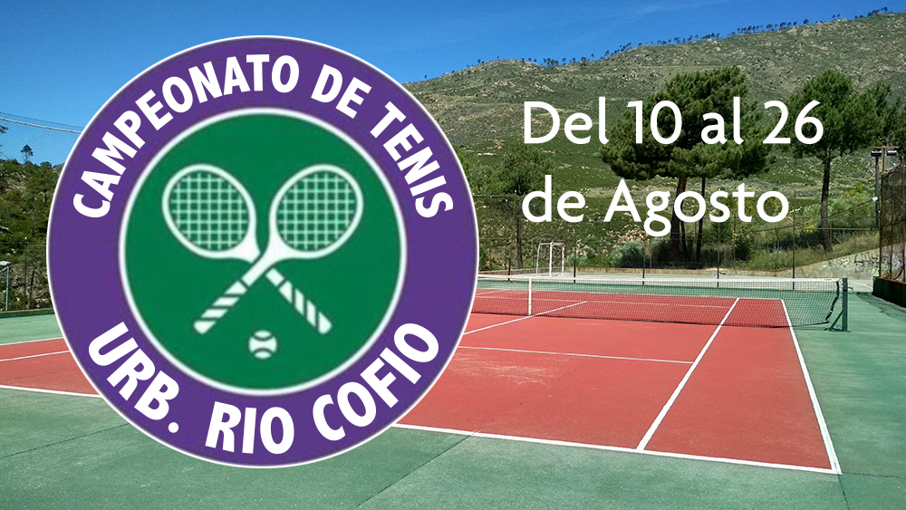 Campeonato tenis Urb Rio Cofio