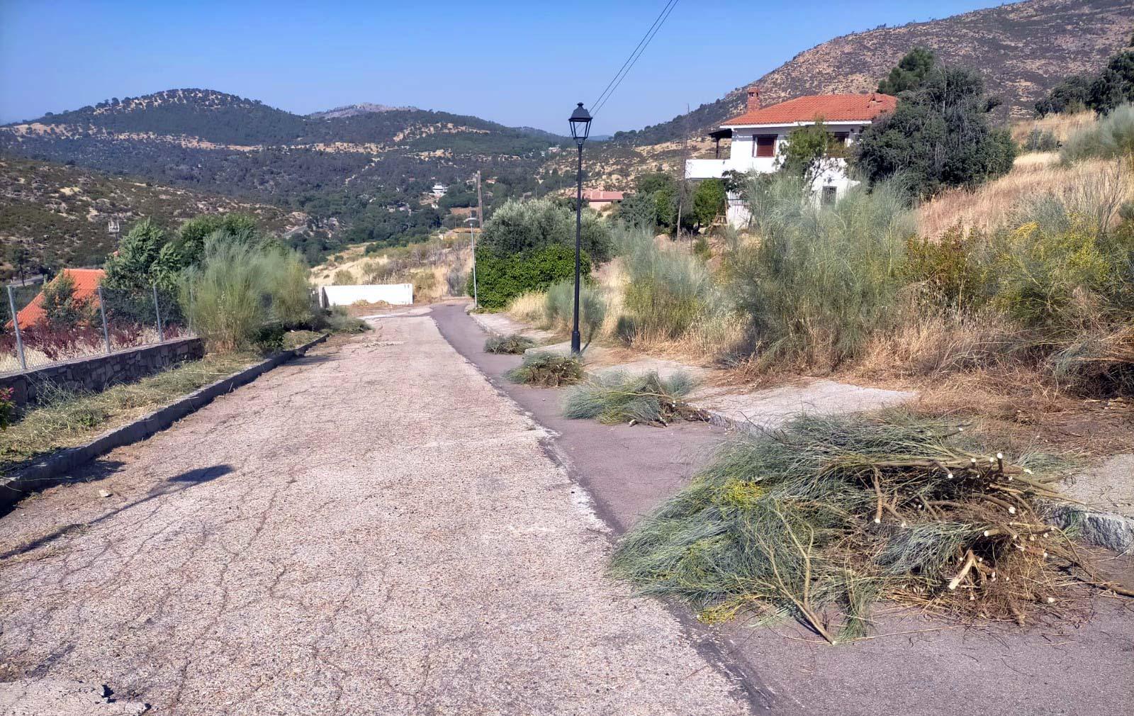 Limpieza de aceras y caminos vecinales